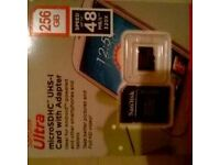 SANDISK ULTRA micro sdxc 256gb memory card and adapter class 10