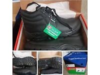 safety shoes boots black
