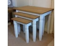 Large solid oak nest of tables