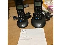 BT Cordless Home Telephones - Twin Pack