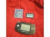 GameBoy Advance With Pokemon&Mario