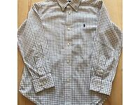Ralph Lauren shirt navy checks age 7