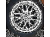 "BMW GENUINE 17""ALLOY WHEEL (1) BBS RS740 ,STYLE42 , 1094377 ,5x120 STUD PATTERN"