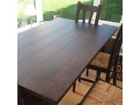 Marks and spencer mango wood table and 4 chairs