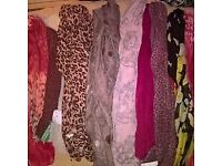 new joblot of 11 ladies scarves all new