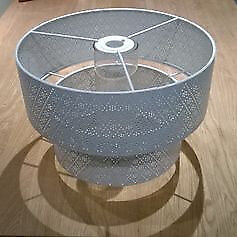 lampshade white lace effect-metal, brand new