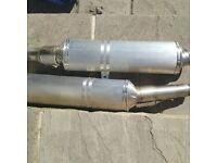 Aprilla Exhausts taken off 2010 Tuono