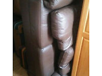 Chocolate dark brown 2 seater settee