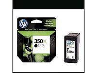 HP 350xl black cartridges x 3