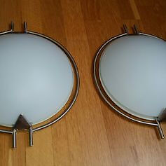 A pair of ceiling lights