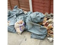 Pile of hardcore plus 9 bags full. Free to collect from Carshalton SM5 1LF