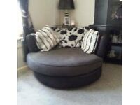2 Seater Setter and Swivel Chair