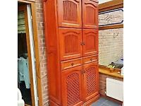 Solid hard wood large cupboard / larder unit / cabinet delivery available