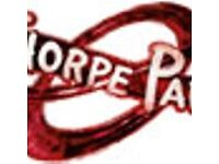 Here I am selling 2 x Thorpe Park tickets (The Sun) for 11th June 2018 only.