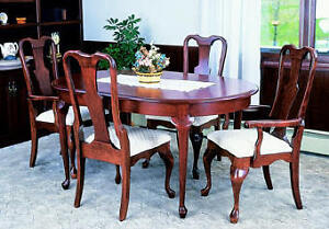 Cherry Queen Anne Table and 4 Chairs Set Kingston Kingston Area image 1