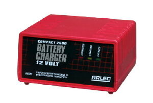BATTERY CHARGER COMPACT ARLEC 12V 2.5AMP SUITABLE FOR CARS ETC charging 12 volt