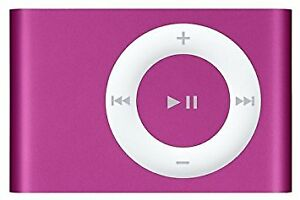 iPod Shuffle (Pink), with charger/connector