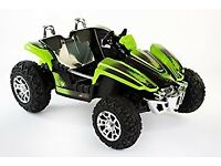 Electric kids car - rocket dirt racer - 12v ride on - two seater - green