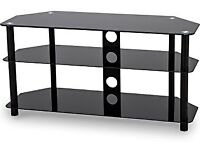 BRAND NEW - Black Glass TV Stand 1000mm For TVs Up To 50 inch