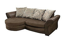 6/ BRAND NEW CORNER SOFA AND SWIVEL CHAIR + DELIVERY 7457CA