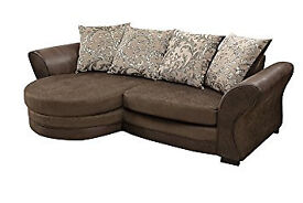 6/ BRAND NEW CORNER SOFA AND SWIVEL CHAIR + DELIVERY 5CBAB