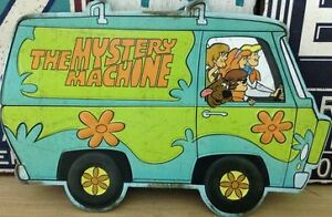 14 x 9.5 Inches Scooby Doo Mystery Mobile & Gang Metal Wall Sign