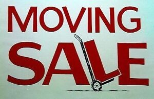 MOVING SALE! Everything must go by May 3rd!
