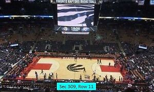 #=Raptors Season Tickets.Every game 2018-2019 Season.Section 309