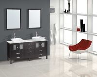 "Sutton 72"" Bathroom Vanity with Over Mount Sinks *ON SALE*"