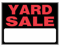 HUGE FUNDRAISER YARD AND BAKE SALE!!!