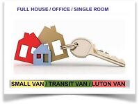 VAN & MAN HOUSE OFFICE REMOVAL BIKE RECOVERY LUTON HIRE WITH 2/3 MEN MOVERS PIANO SHIFTING MOVING