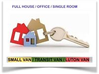 URGENT MAN & VAN MOVING/ MOVER BIKE DELIVERY/ COLLECTION RENT LUTON HOUSE REMOVAL RUBBISH CLEARANCE