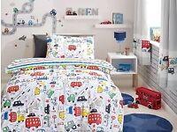 Next Beep Beep Toddler bed/Curtains/Lampshade bundle