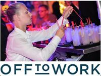 Waiting/bar staff from £7.79/hr – earn money now for Xmas!