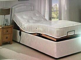 Single Electric Adjustable Motion Bed plus Headboard