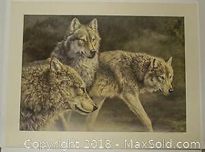 """Jorge Mayol """"Distant Call Wolves"""" limited edition print, s/n"""