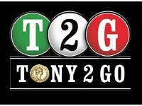 Delivery Drivers Required for Tony 2 Go, East Kilbride
