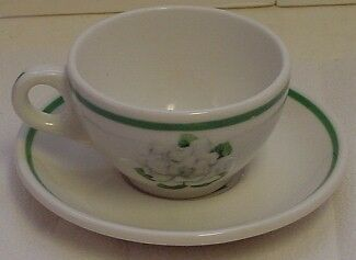 Vintage Syracuse Gardenia Restaurant China Cup & Saucer Flower Pattern on Rummage