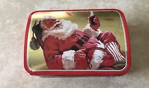 Coca Cola Santa Christmas Treasure Chest tin