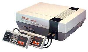 Nintendo classique avec les 3 Mario  et 2 manettes