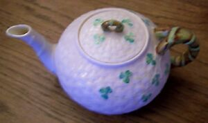 Belleek Shamrock  Tea Pot – Small This is a four (4) cup