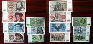 Germany-Banknotes-5-10-20-50-100-500-1000-Marks-Notes-1980