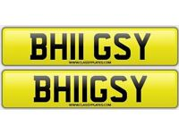 BHUGSY / BHIGSY private number plate cherished personalised car reg - BH11GSY