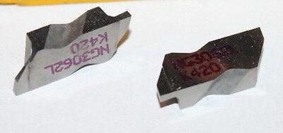 2 Kennametal Top Notch Tool Holder Carbide Inserts Grade K420 Grooving Ng 5250l