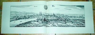 Basel alte Ansicht Merian Druck Stich Städteansicht