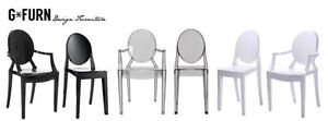 Starck Style Ghost Dining Chair Louis Victoria Armchair