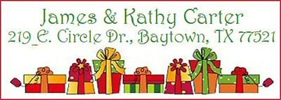 Presents Address Labels - ~CHRISTMAS PRESENTS~  Lazer Address Labels Too Cute!