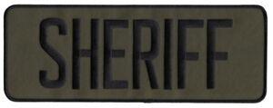 SHERIFF back patch. 11