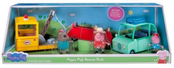Peppa Pig Rescue Pack 3 Vehicles Cars Truck 3 Figures Kid To