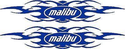 11  Custom Tribal Malibu   Boat Decal Sticker   Pair   L  K